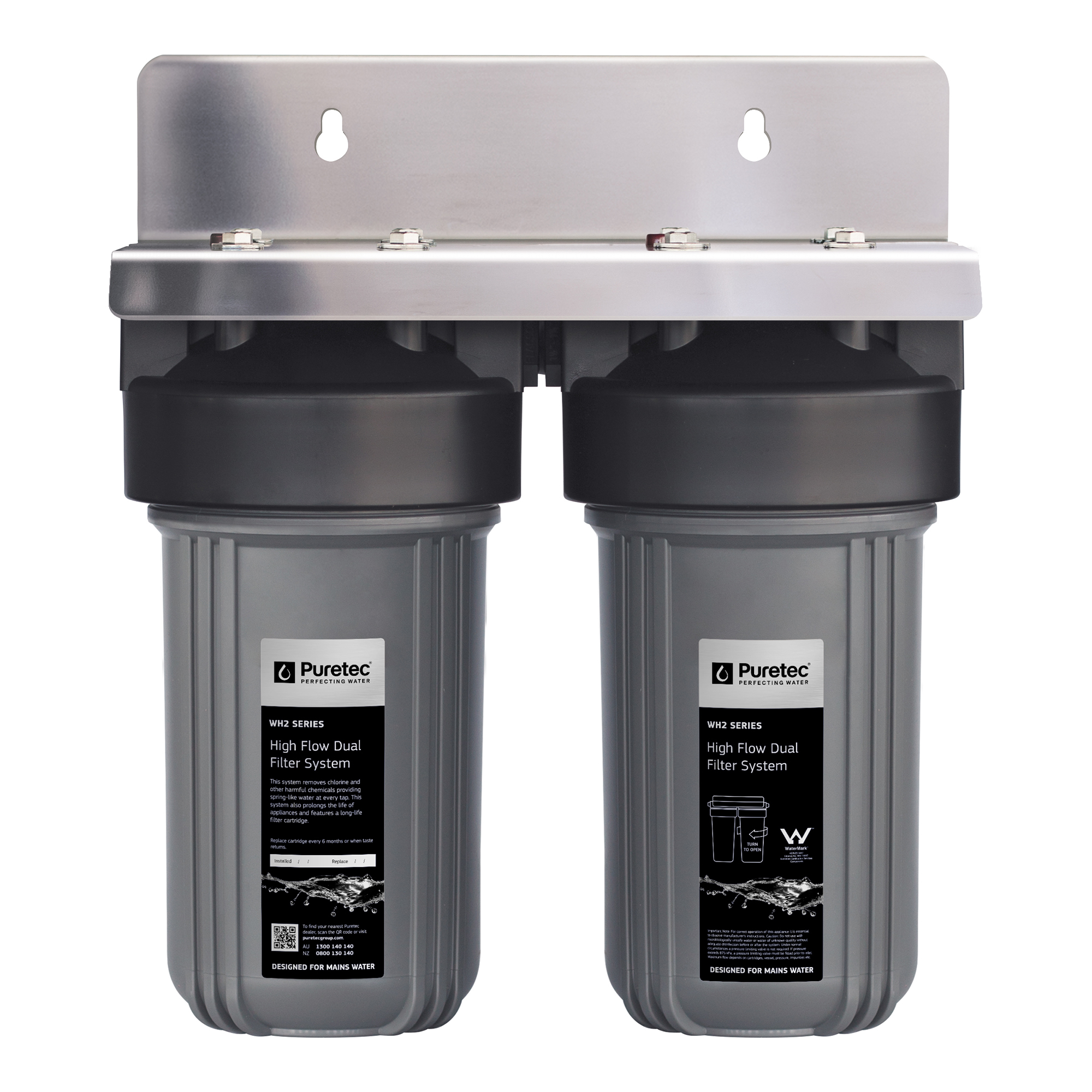"""Puretec Whole House Dual Filter System 10"""""""