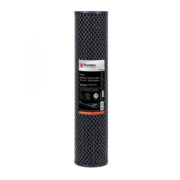 """Puretec Dual Purpose Carbon Cartridge 10 Micron 20"""""""