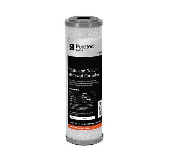 """Puretec Extruded Carbon Cartridge 5 Micron 10"""""""