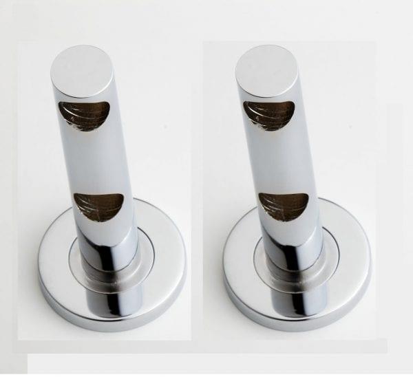 Udo Double End Pillars Chrome (Pair)
