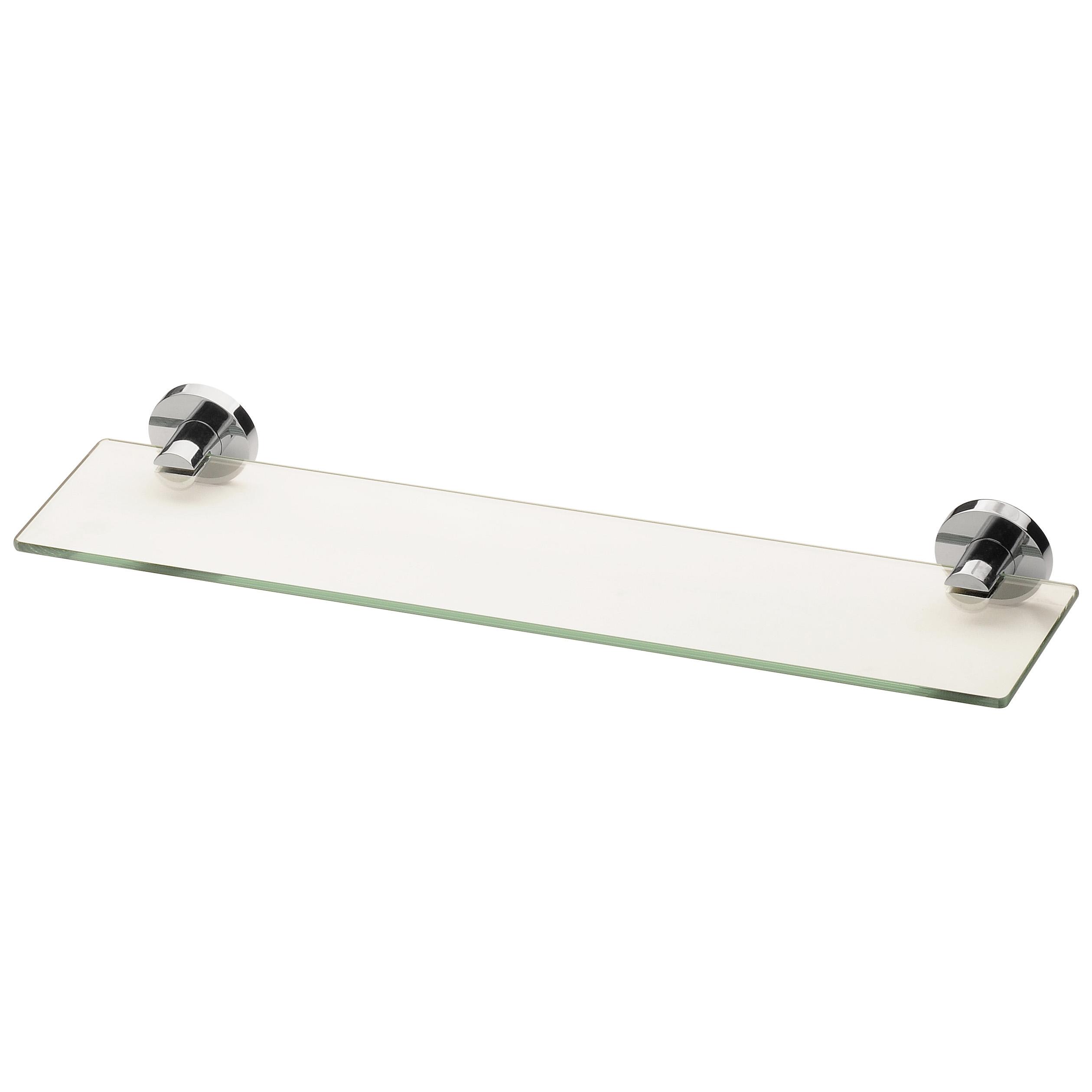 Phoenix Radii Glass Shelf Round Chrome