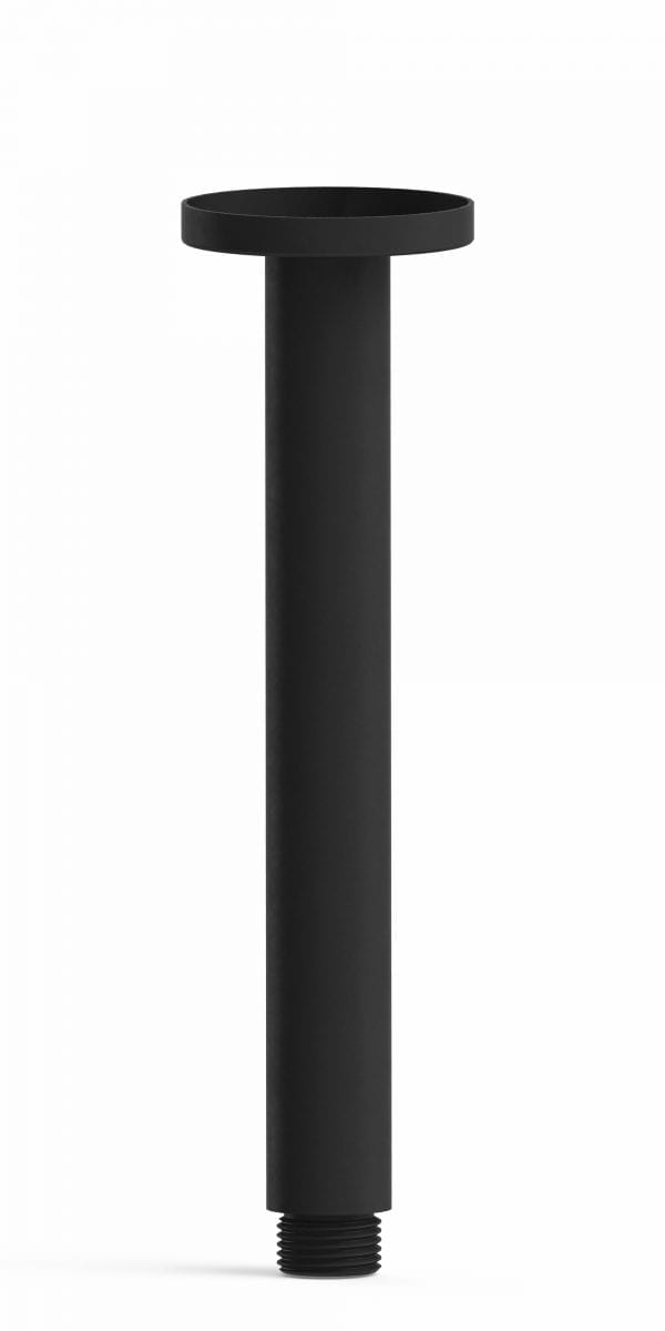 Harmony Senza Round Ceiling Arm 200mm Black