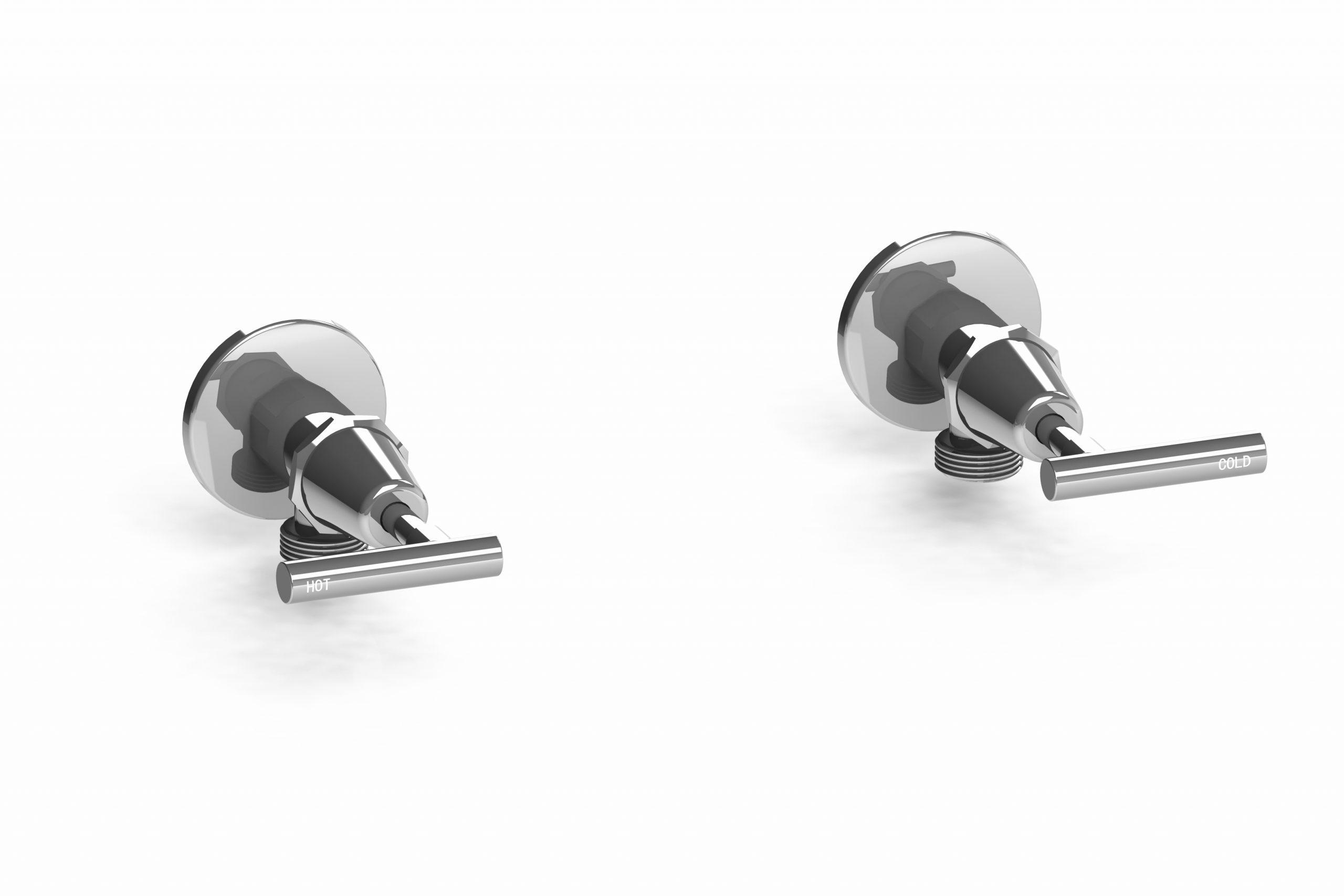 Harmony Meno Washing Machine Taps Lever Chrome (Pair)