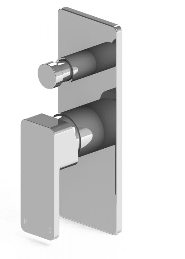 Harmony Rondo Solid Shower/Bath Diverter Mixer Chrome