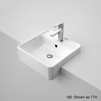 Caroma Carboni Semi Recessed Basin 3th White