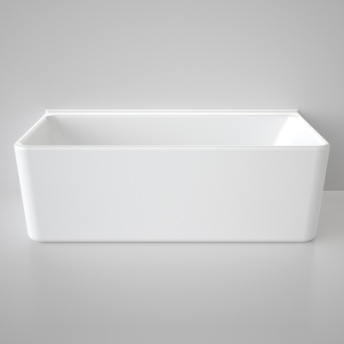 Caroma Cube Back To Wall Bath 1800 White