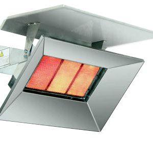 Bromic Heat Flo 5 Commercial Tile Heater Chrome Deflector