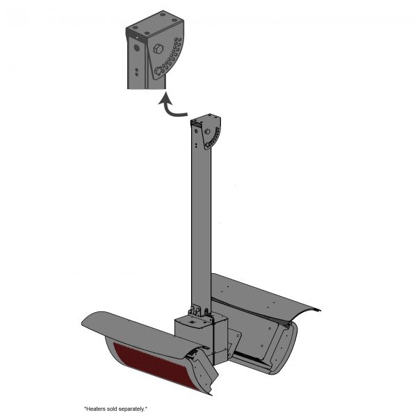 Bromic Smart-Heat Ceiling Pole 4M Height