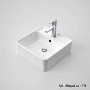 Caroma Carboni Above Counter Square Basin White Ceramic 3TH