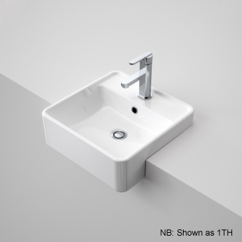 Caroma Carboni Semi Recessed Square Basin White Ceramic 3TH