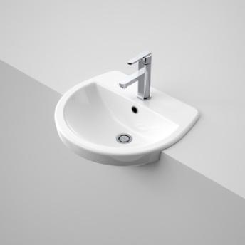 Caroma Cosmo Semi Recessed Basin 1th White