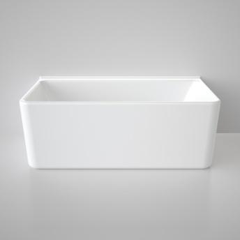 Caroma Cube Back To Wall Bath 1600 White