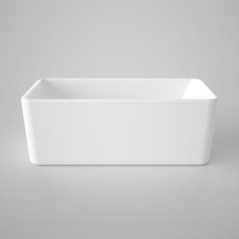 Caroma Cube Freestanding Bath 1600 White