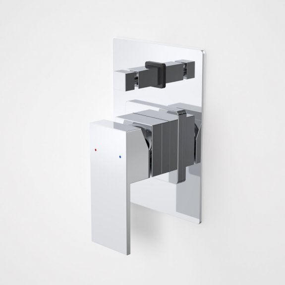 Caroma Quatro Solid Shower/Bath Divertor Mixer Chrome