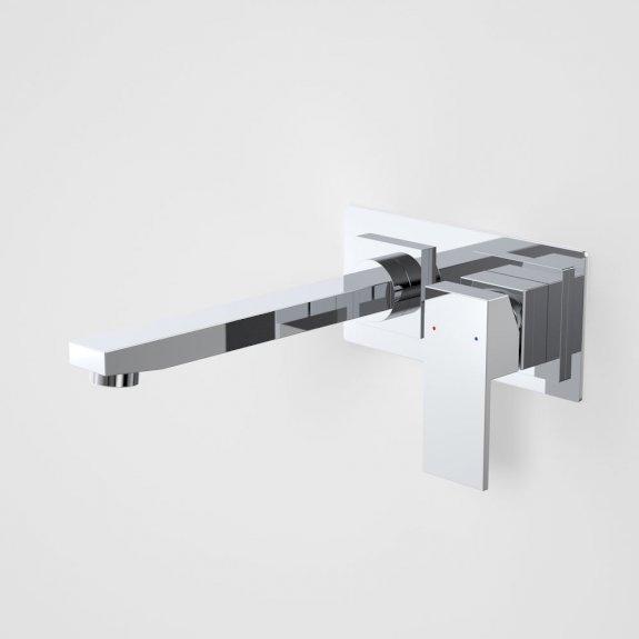 Caroma Quatro Solid Wall Basin Mixer 200mm Chrome