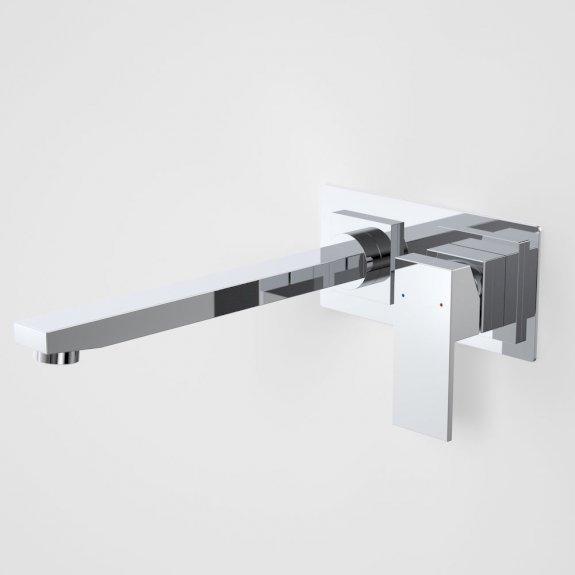 Caroma Quatro Solid Wall Bath Mixer 250mm Chrome