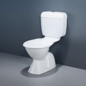 Caroma Topaz P-Trap Suite Ceramic White Toilet Seat