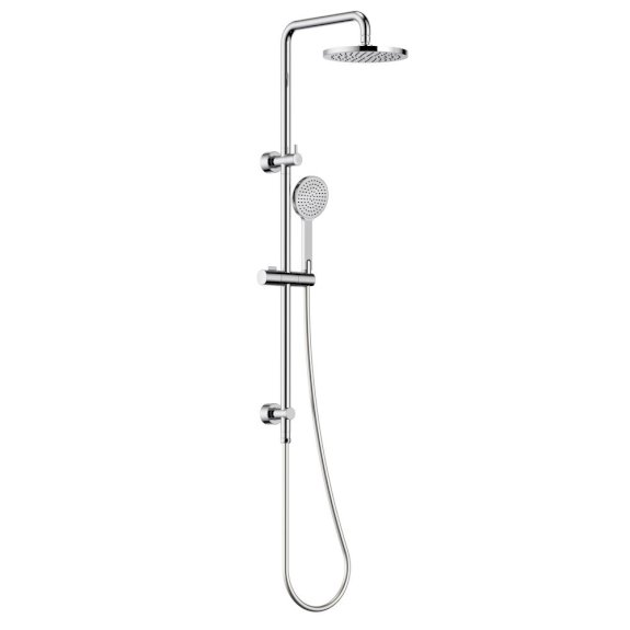 Clark Round Rail Shower w/Overhead Chrome