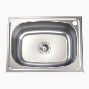 Clark Single 45L Flushline Tub Chrome Sink