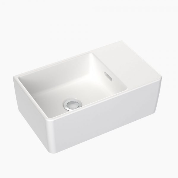 Clark Square Hand Wall Basin Nth White