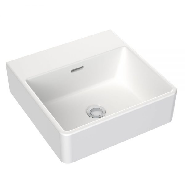 Clark Square Wall Basin Nth 400mm White