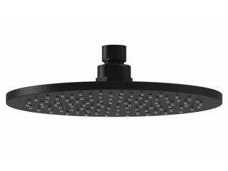 Harmony Bassini Round Shower Head 200mm Black