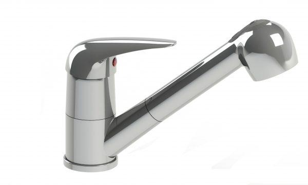 Harmony Meno Sink Mixer w/Spray Chrome