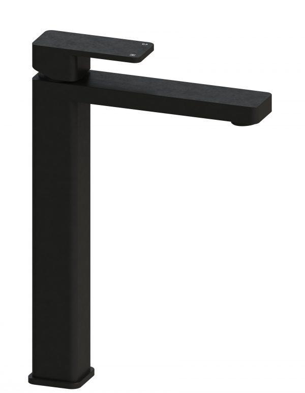 Harmony Rondo Solid Tower Basin Mixer Black