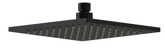 Harmony Rondo Square Shower Head 200mm Black