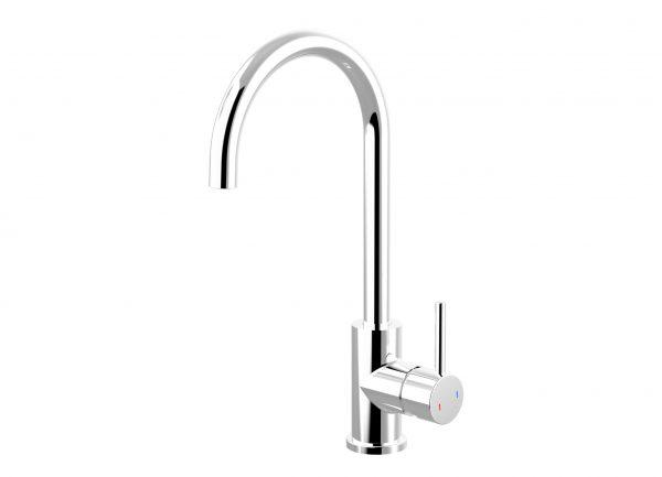 Harmony Senza Round Gooseneck Sink Mixer Chrome