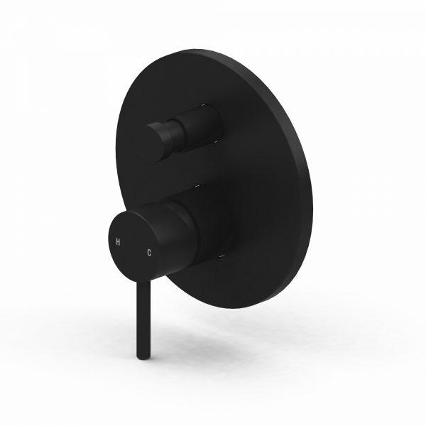 Harmony Senza Shower/Bath Diverter Mixer Black