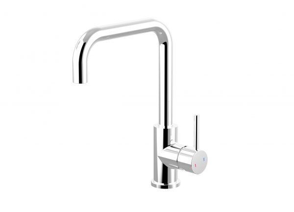 Harmony Senza Square Gooseneck Sink Mixer Chrome
