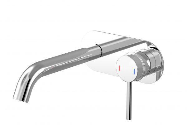 Harmony Senza Wall Basin Mixer w/Plate Chrome