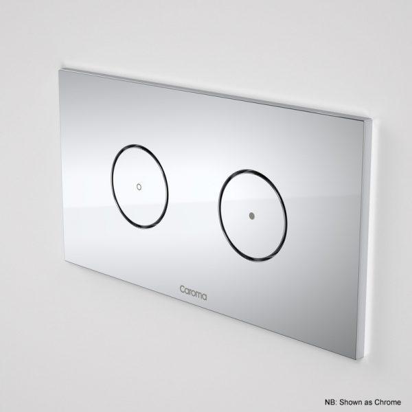 Caroma Invisi II Dual Flush Round Plate & Button White