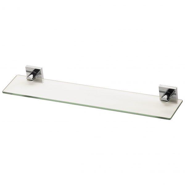 Phoenix Radii Glass Shelf Square Chrome