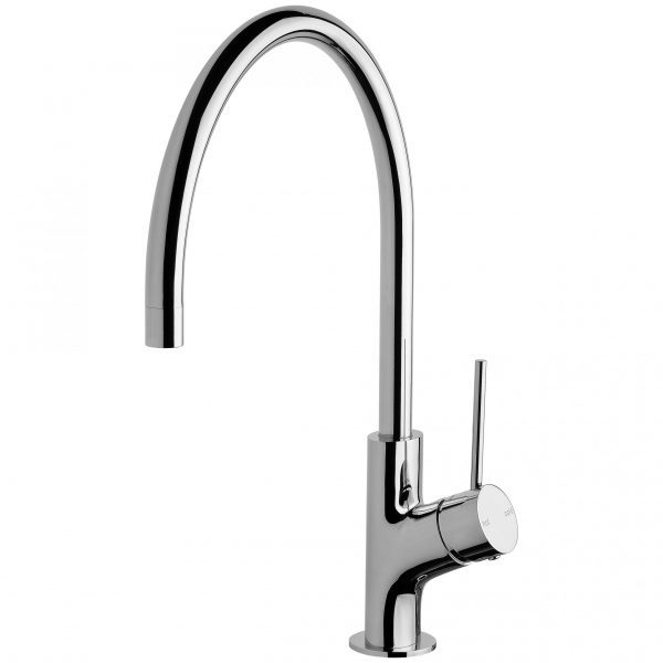 Phoenix Vivid Slimline Oval Gooseneck Sink Mixer 220mm Chrome