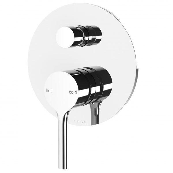 Phoenix Vivid Slimline Oval Shower/Bath Divertor Mixer Chrome