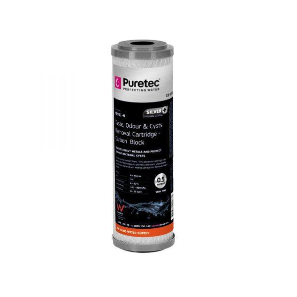 """Puretec Carbon Block Cartridge 0.5 Micron 10"""""""