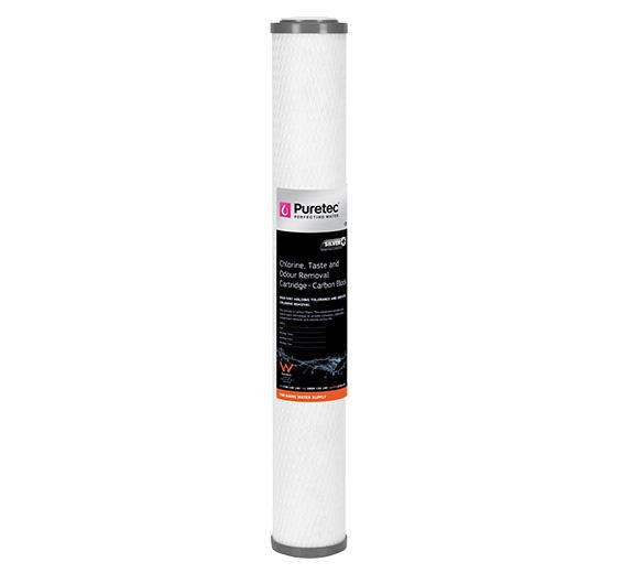 """Puretec Carbon Block Cartridge 10 Micron 20"""""""