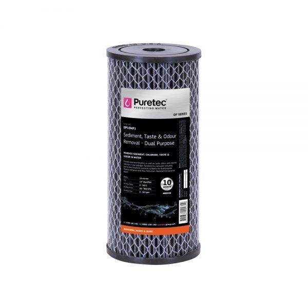 """Puretec Dual Purpose Carbon Cartridge 10 Micron 10"""""""