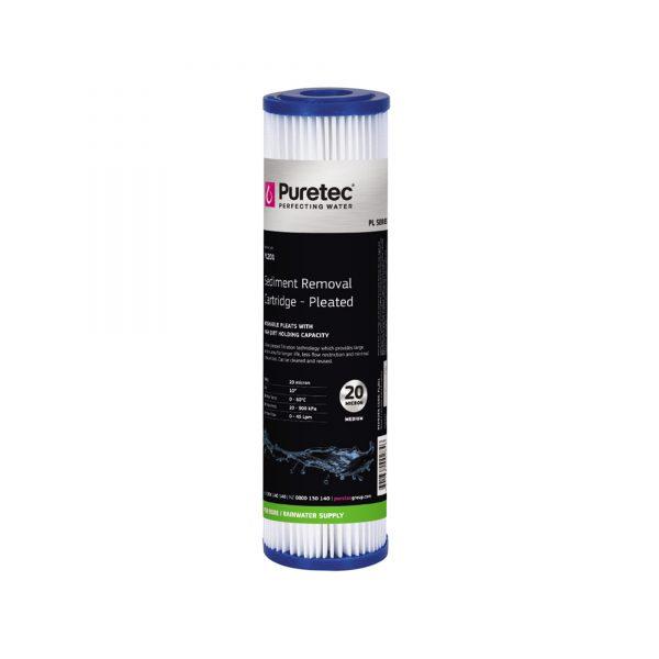 "Puretec Pleated Sediment Cartridge 20 Micron 10"""