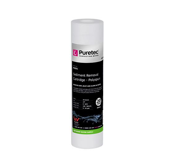 "Puretec Polyspun Sediment Cartridge 20 Micron 10"""