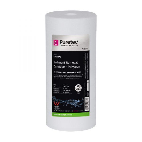 "Puretec Polyspun Sediment Cartridge 5 Micron 10"""
