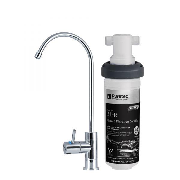Puretec Undersink Filter System w/High Loop Faucet