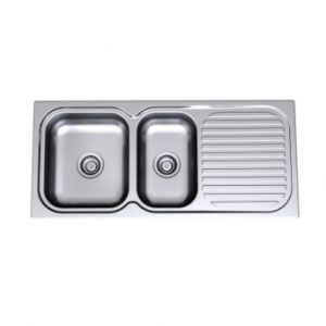 Radiant Sink Left Hand Bowl 1TH Chrome Shelf