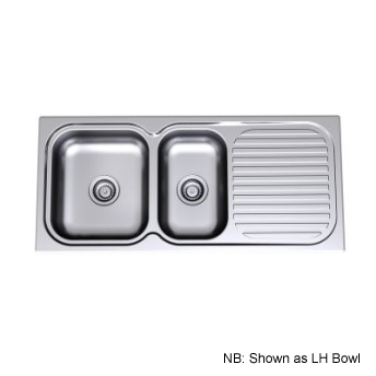 Radiant Sink 1100 1.75 Right Hand Bowl 1th