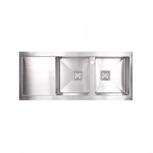 Seima Tetra Pro 1160 Double Bowl Sink and Drainer Steel