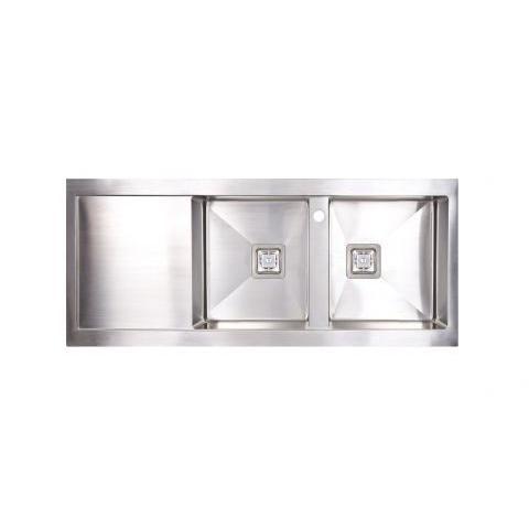 Seima Tetra Pro 1160 Double Bowl Sink w/Drainer