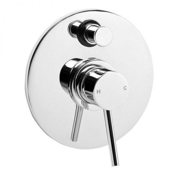 Stylus Cadet Shower/Bath Divertor Mixer Chrome