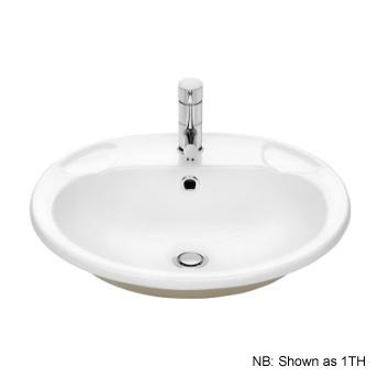 Stylus Symphony Vanity Basin 3th White